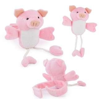 Подхват для штор мягкая игрушка на липучке свинка 20х12х6 см розовая