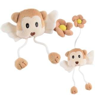 Подхват для штор мягкая игрушка на резинке обезьянка 20х9х4 см бежевая