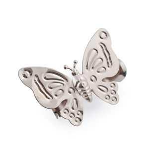 прищепка для штор  бабочка серебро 12х9см