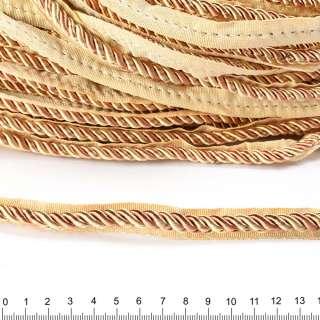 Кант-шнур вшивной 9мм тесьма 15мм шампань/карамель
