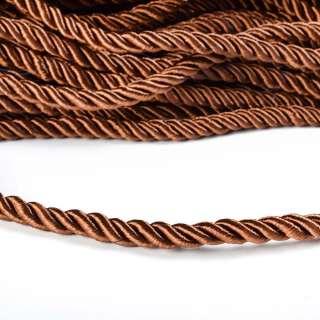 Шнур витой 9мм коричневый