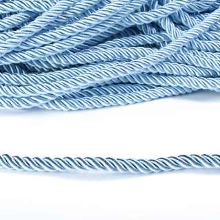 Шнур витой 9мм голубой
