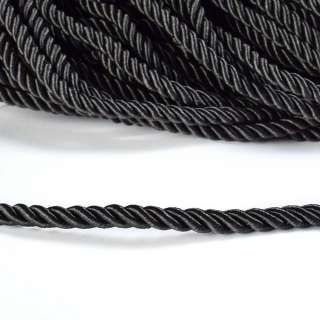 Шнур витой 9мм черный
