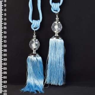 Кисть (пара) голубая, длина 65см, кисть 20см, шар 5см