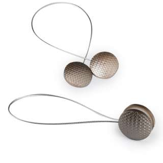 Подхват магнитный для штор круг плетенка бронза