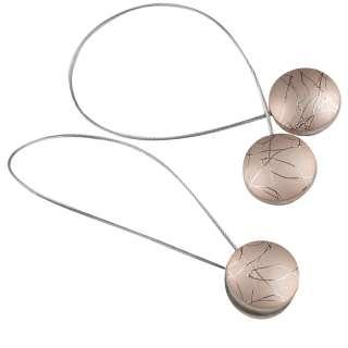 Подхват магнитный для штор круг под мрамор розовое золото