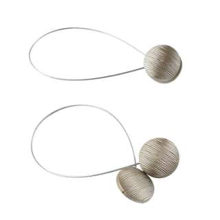 Подхват магнитный для штор круг рифленый бронза