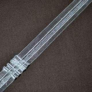 тесьма шторная прозрачная на 2 нити, ш.2,3см вес 385г